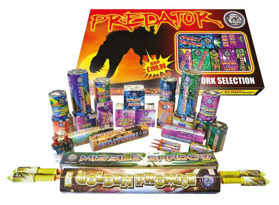 Predator selection box of fireworks